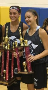 MVP Destiny Adams (shoreshots/warriors) & Allie McGinn runner up MVP at GThing All Star game today! #2021 @GthingBBall
