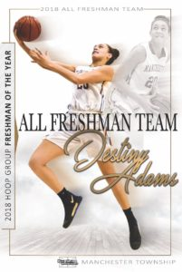 Destiny Adams...The Hoop Group 2018 Freshman of The Year